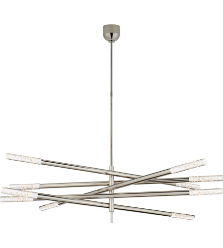 Visual Comfort KW5587PN-SG Kelly Wearstler Rousseau LED 50 inch Polished Nickel Articulating Chandelier Ceiling Light in Seeded Glass, Grande photo
