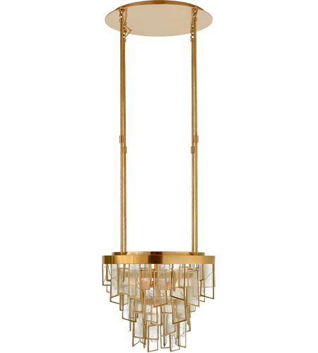 Visual Comfort KW5801AB-FRG Kelly Wearstler Ardent 8 Light 15 inch Antique-Burnished Brass Waterfall Chandelier Ceiling Light, Small photo
