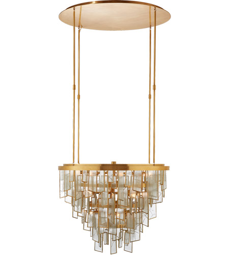 Visual Comfort KW5802AB-FRG Kelly Wearstler Ardent 21 Light 27 inch Antique-Burnished Brass Chandelier Ceiling Light photo