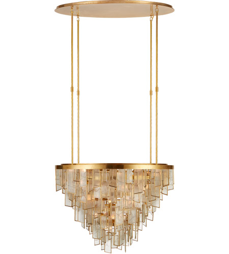 Visual Comfort KW5803AB-FRG Kelly Wearstler Ardent 29 Light 36 inch Antique-Burnished Brass Waterfall Chandelier Ceiling Light, Large photo