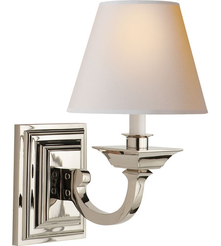 Visual Comfort MS2012PN-NP Michael S Smith Edgartown 1 Light 8 inch Polished Nickel Decorative Wall Light photo