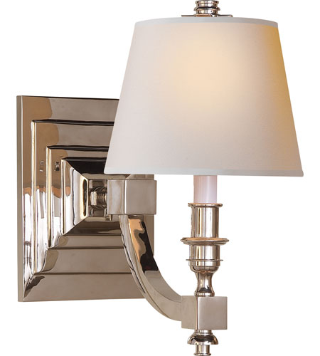 Visual comfort studio eiffel 1 light decorative wall light in polished nickel ms2020pn np - Decorative wall lighting ...