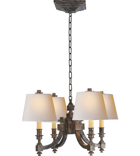 Michael S Smith Eiffel 4 Light 22 Inch Sheffield Nickel Chandelier Ceiling