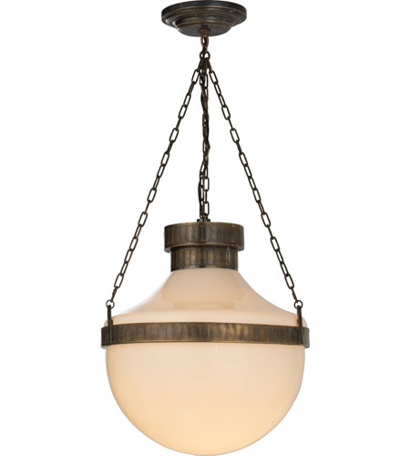 schoolhouse pendant light visual comfort ms5030abv wg michael s smith modern 28850