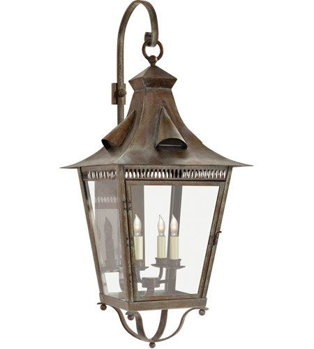 Visual Comfort NW2709WVG-CG Niermann Weeks Orleans 4 Light 39 inch Weathered Verdigris Outdoor Wall Lantern, Large Bracketed photo