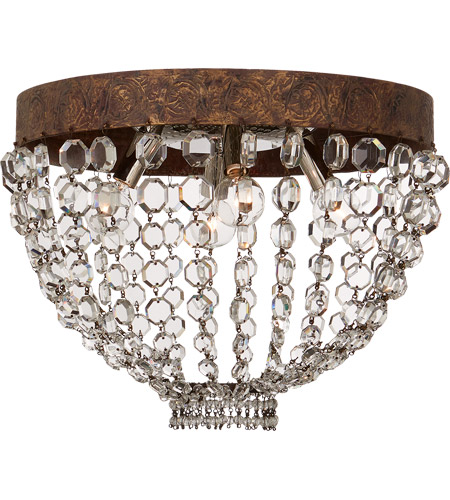 Visual Comfort NW4016AGP-CG Niermann Weeks Lyon 4 Light 16 inch Antique Gild and Polychrome Flush Mount Ceiling Light photo