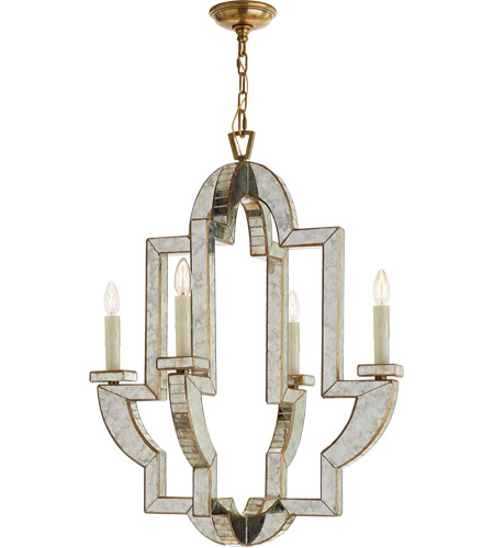 Visual Comfort NW5040AM/HAB Niermann Weeks Lido 4 Light 26 inch Antique  Mirror Chandelier Ceiling Light, Niermann Weeks, Medium - Visual Comfort NW5040AM/HAB Niermann Weeks Lido 4 Light 26 Inch