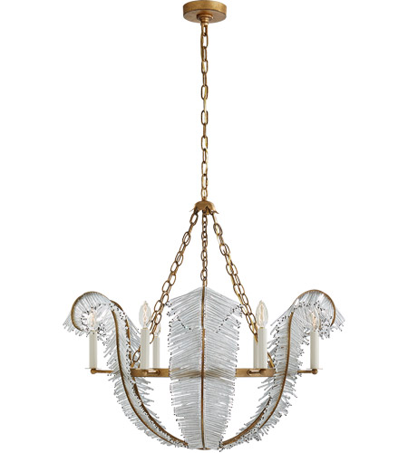 Visual Comfort NW5051GI Niermann Weeks Calais 6 Light 34 inch Gilded Iron Chandelier Ceiling Light, Niermann Weeks photo