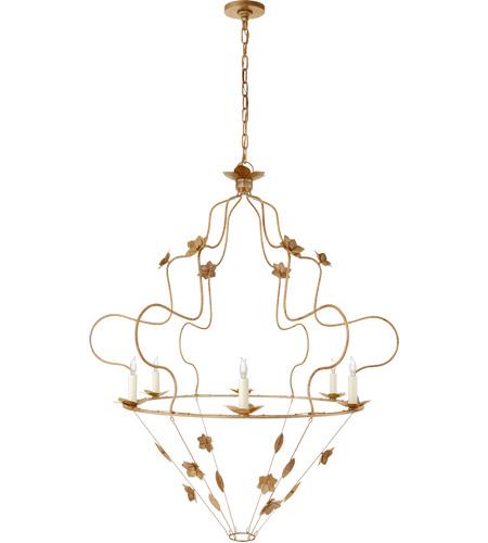 Niermann Weeks Arundel 6 Light 40 Inch Gilded Iron Chandelier Ceiling Grande Ornate