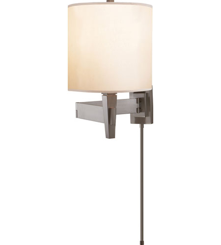 Visual Comfort Studio Architects 1 Light Swing-Arm Wall Light in Brushed Chrome PT2000BC-S photo