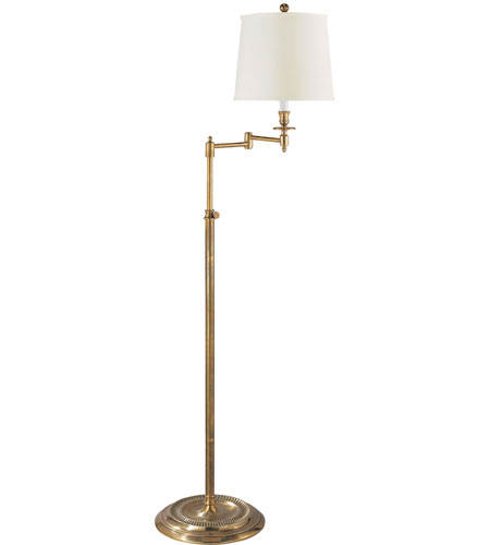 Visual comfort s1012hab l studio candle stick 50 inch 100 watt hand visual comfort s1012hab l studio candle stick 50 inch 100 watt hand rubbed antique brass swing arm floor lamp portable light in linen mozeypictures Image collections