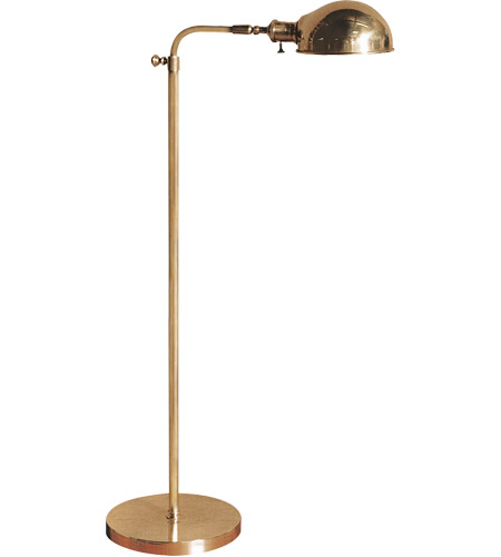 visual comfort studio old pharmacy watt hand rubbed antique brass task floor lamp portable light vintage with black shade for sale