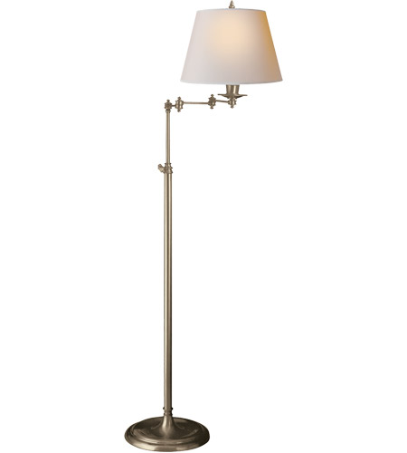 100 watt antique nickel floor lamp portable light in natural paper. Black Bedroom Furniture Sets. Home Design Ideas