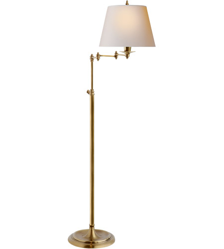 Visual comfort s1200hab np studio candle stick 47 inch 100 watt hand visual comfort s1200hab np studio candle stick 47 inch 100 watt hand rubbed antique brass floor lamp portable light in natural paper mozeypictures Image collections