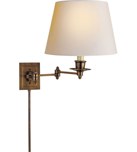 Visual Comfort Studio 1 Light Swing-Arm Wall Light in Hand-Rubbed Antique Brass S2000HAB-NP photo