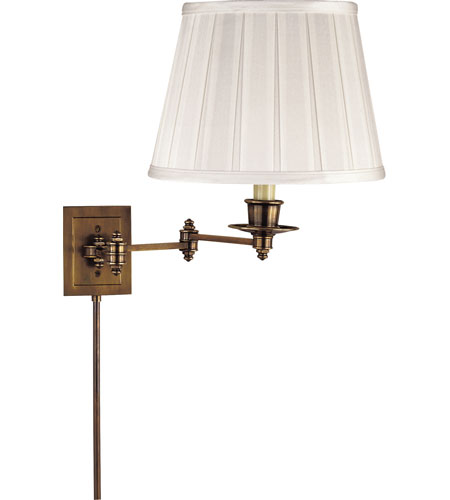 Visual Comfort Studio 1 Light Swing-Arm Wall Light in Hand-Rubbed Antique Brass S2000HAB-S photo