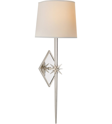 Visual Comfort S2321PN-NP Ian K. Fowler Etoile 2 Light 10 inch Polished Nickel Wall Sconce Wall Light, Large Tail photo