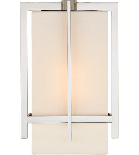 Visual Comfort S2323PN-L Ian K. Fowler Milo 1 Light 7 inch Polished Nickel Wall Sconce Wall Light, Small photo