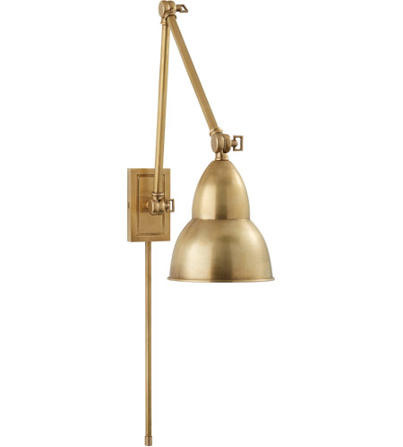 Visual Comfort S2602HAB Studio French Library 31 inch 50 watt Hand-Rubbed Antique Brass Task Wall Light photo