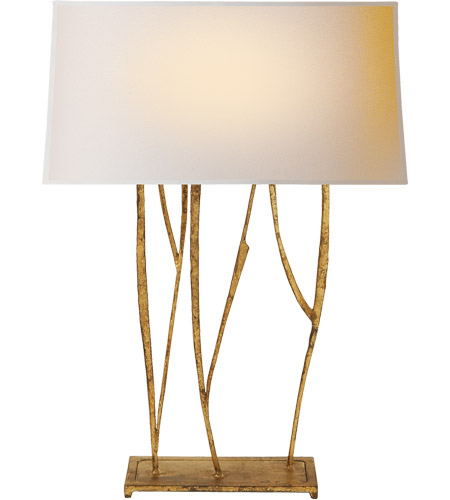Visual Comfort S3051GI-NP Ian K. Fowler Aspen 23 inch 60 watt Gilded Iron Decorative Table Lamp Portable Light photo