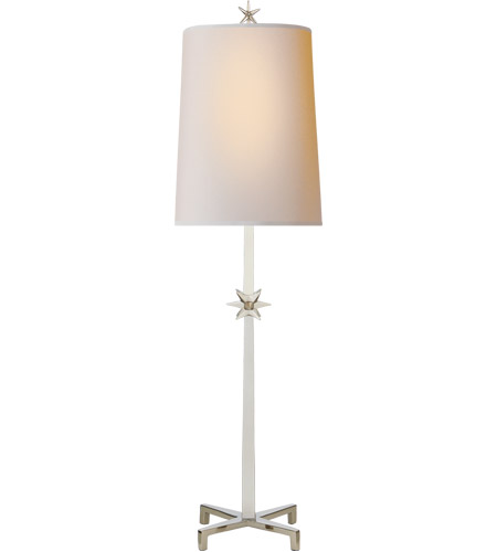 Visual Comfort S3320PN-NP Ian K. Fowler Etoile 37 inch 60 watt Polished Nickel Table Lamp Portable Light, Large photo