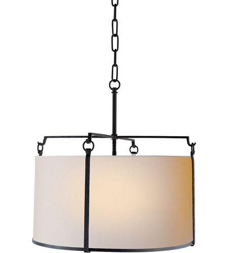 visual comfort s5030brnp ian k fowler aspen 4 light 20 inch hand painted blackened rust hanging shade ceiling light