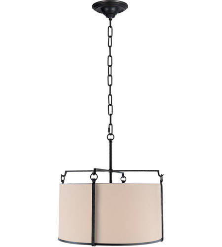 Visual Comfort S5030BR-NP Ian K. Fowler Aspen 4 Light 20 inch Hand Painted Blackened Rust Hanging Shade Ceiling Light photo