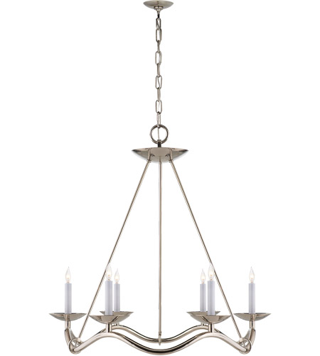 Visual Comfort S5040PN Barry Goralnick Choros 6 Light 28 inch Polished Nickel Chandelier Ceiling Light photo