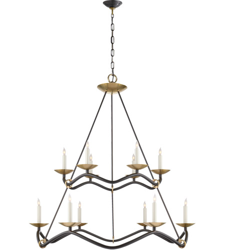 Visual Comfort S5041AI Barry Goralnick Choros 12 Light 37 inch Aged Iron Chandelier Ceiling Light photo