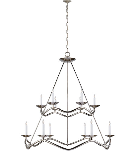 Visual Comfort S5041PN Barry Goralnick Choros 12 Light 37 inch Polished Nickel Chandelier Ceiling Light photo