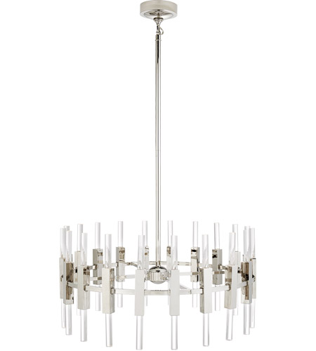 Visual Comfort S5143PN-CA Ian K. Fowler Palomar LED 34 inch Polished Nickel Rotating Chandelier Ceiling Light, Small photo