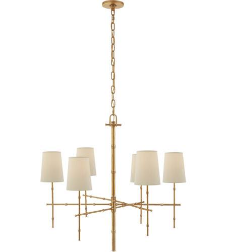 Visual Comfort S5161HAB-PL Studio Grenol 6 Light 33 inch Hand-Rubbed Antique Brass Chandelier Ceiling Light photo