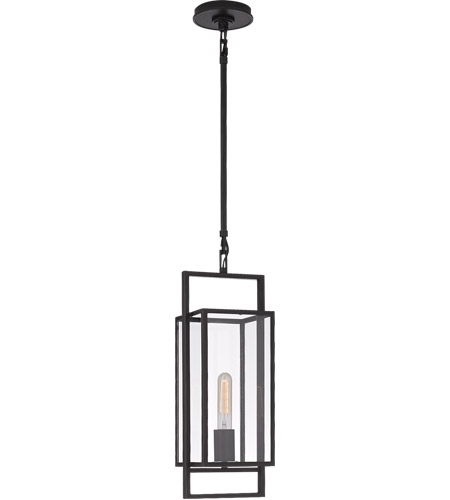Visual Comfort S5190AI-CG Ian K. Fowler Halle 1 Light 6 inch Aged Iron Lantern Pendant Ceiling Light, Petite photo