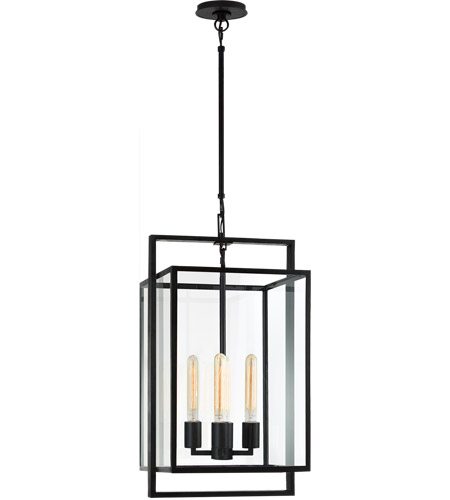 Visual Comfort S5192AI-CG Ian K. Fowler Halle 4 Light 14 inch Aged Iron Hanging Lantern Ceiling Light, Small photo