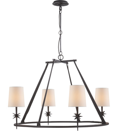 Visual Comfort S5315BR-NP Ian K. Fowler Etoile 4 Light 36 inch Blackened Rust Chandelier Ceiling Light photo