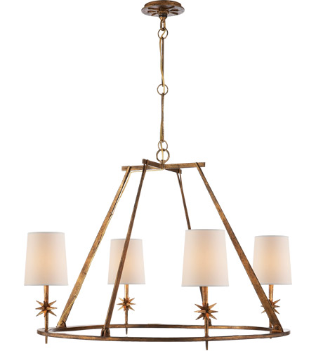Visual Comfort S5315GI-NP Ian K. Fowler Etoile 4 Light 36 inch Gilded Iron Chandelier Ceiling Light photo