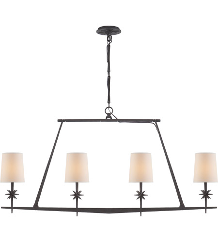 Visual Comfort S5316BR-NP Ian K. Fowler Etoile 4 Light 48 inch Blackened Rust Linear Pendant Ceiling Light photo