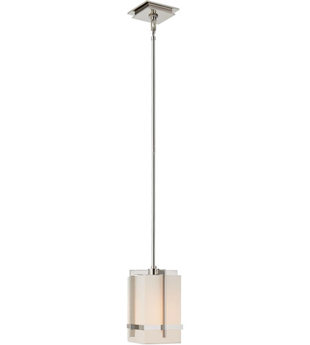 Visual Comfort S5321PN-L Ian K. Fowler Milo 1 Light 8 inch Polished Nickel Pendant Ceiling Light, Small photo