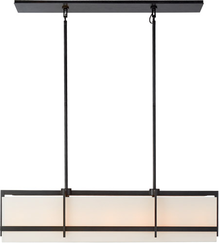 Visual Comfort S5327AI-L Ian K. Fowler Milo 7 Light 43 inch Aged Iron Linear Pendant Ceiling Light, Large photo
