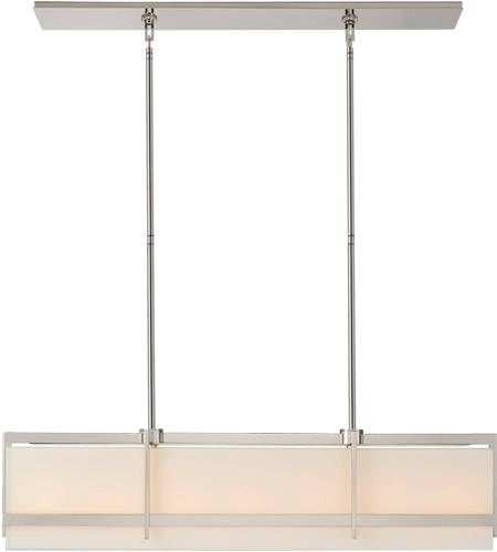 Visual Comfort S5327PN-L Ian K. Fowler Milo 7 Light 43 inch Polished Nickel Linear Pendant Ceiling Light, Large photo