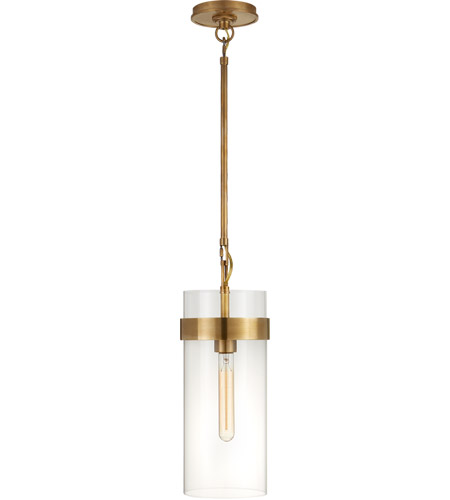 Visual Comfort S5673HAB-CG Ian K. Fowler Presidio 1 Light 7 inch Hand-Rubbed Antique Brass Pendant Ceiling Light, Small photo