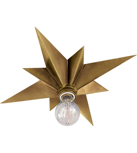 Visual comfort sc4000hab eric cohler star 1 light 15 inch hand visual comfort sc4000hab eric cohler star 1 light 15 inch hand rubbed antique brass flush mount ceiling light mozeypictures Images