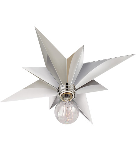 Visual Comfort SC4000PN Eric Cohler Star 1 Light 15 inch Polished Nickel Flush Mount Ceiling Light photo