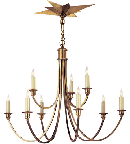 Visual Comfort SC5002HAB Eric Cohler Venetian 9 Light 28 inch Hand-Rubbed Antique Brass Chandelier Ceiling Light photo