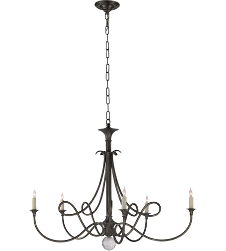 Visual Comfort SC5005BZ Studio Twist 5 Light 36 inch Bronze Chandelier Ceiling Light photo