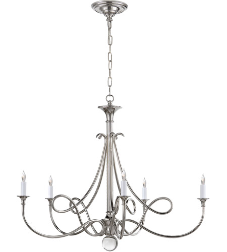 Visual Comfort Studio Twist 5 Light Chandelier in Polished Nickel SC5005PN photo