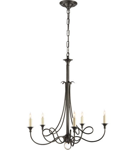 Visual Comfort SC5015BZ Eric Cohler Twist 5 Light 26 inch Bronze Chandelier Ceiling Light photo
