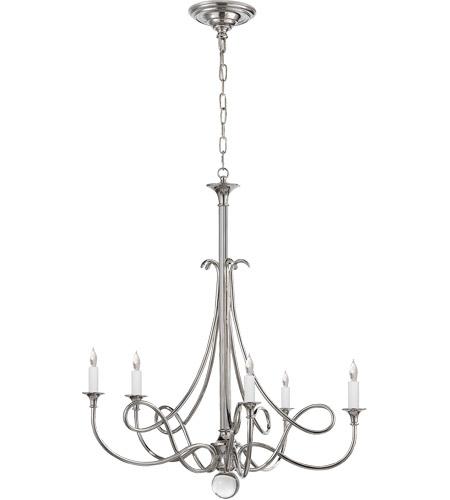 Visual Comfort Sc5015pn Eric Cohler Twist 5 Light 26 Inch Polished Nickel Chandelier Ceiling