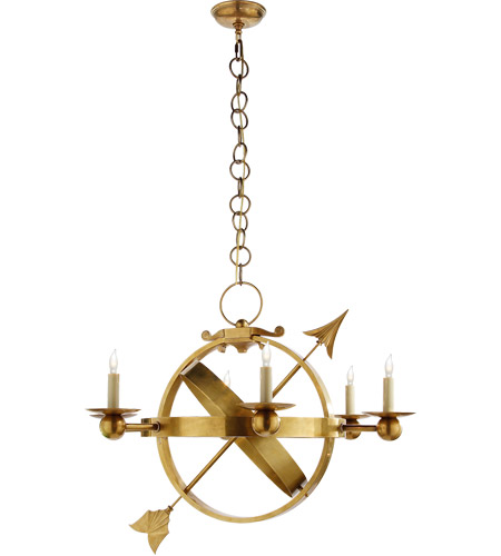 Visual Comfort SC5102HAB Eric Cohler Armillary 6 Light 35 inch Hand-Rubbed Antique Brass Chandelier Ceiling Light photo