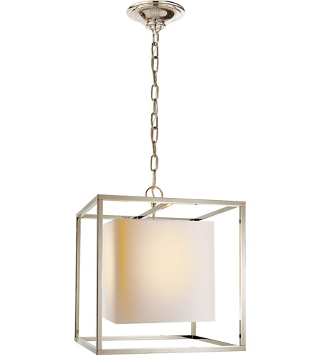 Visual Comfort SC5159PN Eric Cohler Caged 1 Light 16 inch Polished Nickel Foyer Pendant Ceiling Light photo
